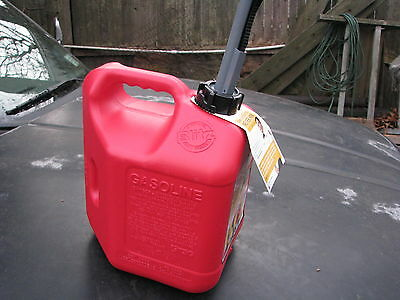 NEW 2 Gallon PLASTIC GAS CAN with SPOUT