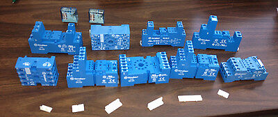 Lot of 13 Finder Relays & Sockets, 250v, 10a/8a, Din, Rail, NEW
