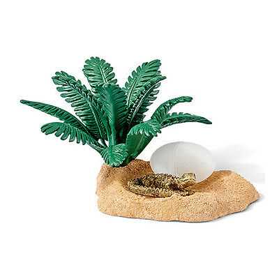 Schleich 42250 Baby Crocodile Hatchling Nest with Egg Reptile Toy Figurine - NIP