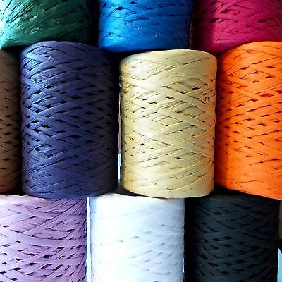Raffia Paper Ribbon 7-9mm All Colours decorating flowers gifts crafts scrapbooks