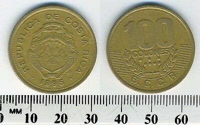 Costa Rica 100 Colones, 1995 - Brass Plated Steel Coin