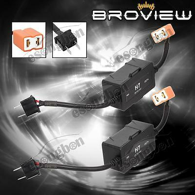 H7 Canbus Error Free No Flicker LED Headlights Low Beam BroView Canbus System x2