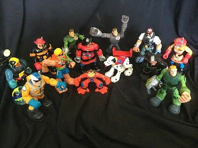 LOT of 13 Rescue Heroes Dog Fireman Diver Workers Space Monkey