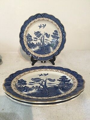 """Booths REAL OLD WILLOW SALAD / STARTER / DESSERT PLATE 8¼"""" x 3"""