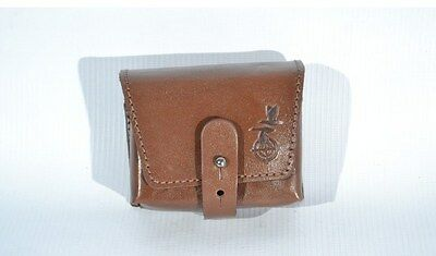 Real Leather Rifle Ammo Shell Cartridge Belt Holder - Holds 10 rounds
