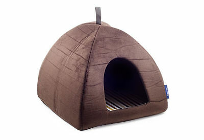 Ancol Sleepy Paws Riviera Pyramid Bed Luxury Cat Dog Puppy Soft Bed House Igloo