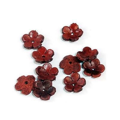 Hobby & Crafting Fun Real Leather Flowers - 12mm
