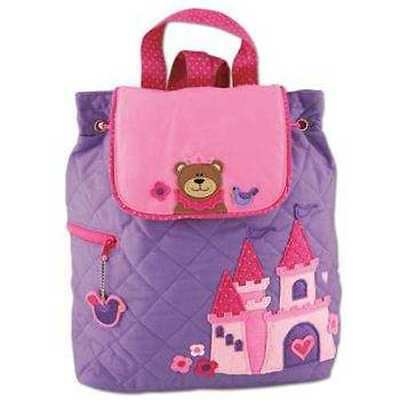 Personalized Stephen Joseph Princess Bear Quilted Backpack NEW