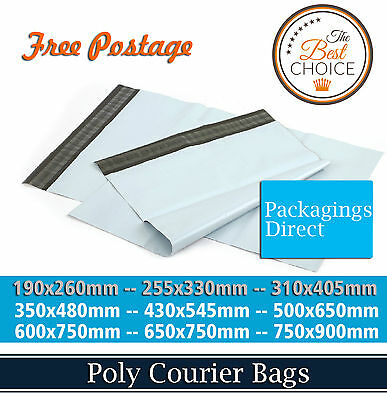 Poly Mailer - 190x260mm - 255x330mm - 310x405mm - Courier Bag Mailing Satchel