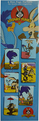 Looney Tunes - Road Runner and Wile E Coyote Set of 6 Magnetic Bookmarks
