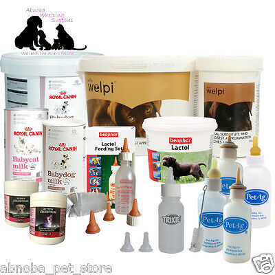 Complete Feeding Kit Choice of Milk | Colostrum & Bottles Puppy Kitten Whelping