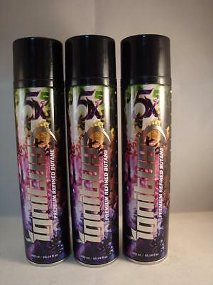 3 CANS IGNITUS BUTANE GAS 300ml 5X REFINED FILTERED LIGHTER REFILL FUEL