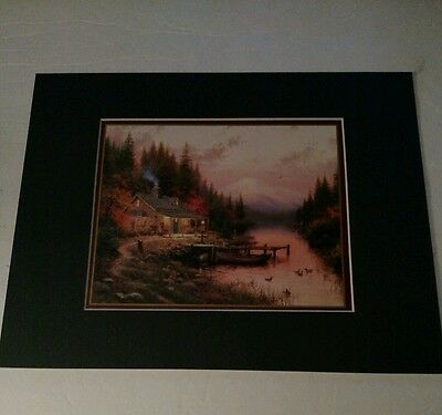 End of a Perfect Day Print by Thomas Kinkade in 11 x14 Matte with COA