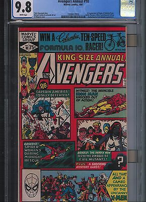 Avengers Annual # 10 CGC 9.8  White Pages. UnRestored.
