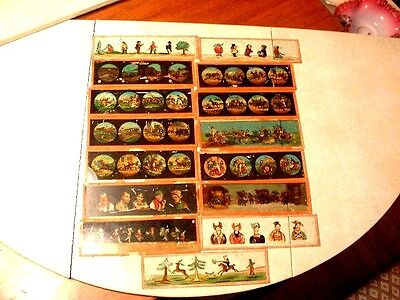 15 Large Antique Ernst Plank & MD Magic Lantern Slides