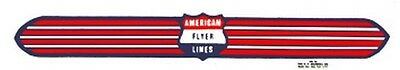 SILVER STREAK NOSE/TRANSFORMER ADHESIVE STICKER for American Flyer S Gauge Train