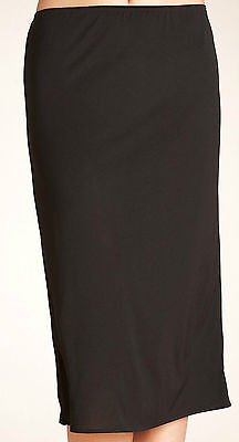 faMouS store Ladies BLACK Waist Half Slip, Underskirt,  SIZES 10 -22, 3 lengths