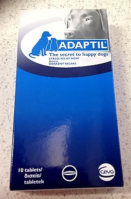 Adaptil tablets 1 box of 10 for fear of fireworks, thunder, travel sickness dogs