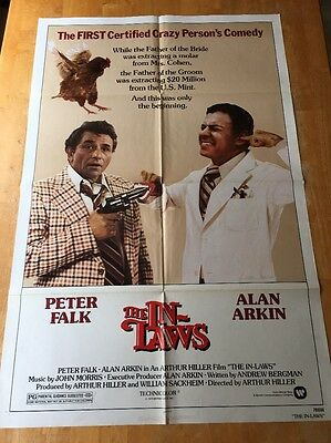 The In-Laws ONE SHEET MOVIE POSTER Peter Falk Alan Arkin Criterion