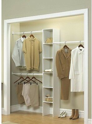 Custom Closet Organizer Kit Shelf System Clothing Wardrobe Storage Rack Bedroom