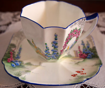 SHELLEY Queen Anne  Demi Cup and Saucer 'Archway of Roses' 11606