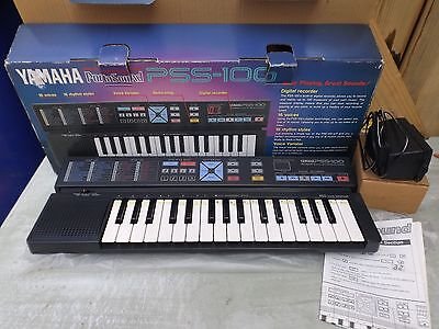 vintage old yamaha PSS-100 keyboard small portable recorder in box