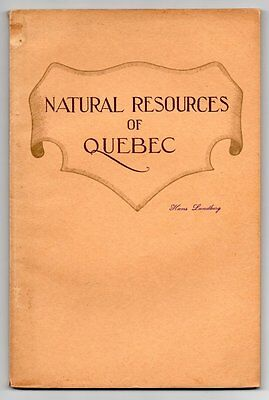 NATURAL RESOURCES OF QUEBEC DEPARTMENT OF THE INTERIOR 1924 folding Map / Photos
