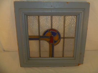 Vintage American Made Stained Glass Window Unleaded Beautiful Pattern 80393