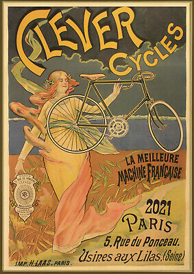 2020 Wall Calendar [12 pages A4] Bicycle Travel Bike Vintage Ads Poster M545