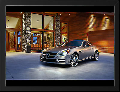 2012 Mercedes Slk Class Roadster New A3 Framed Photographic Print Poster