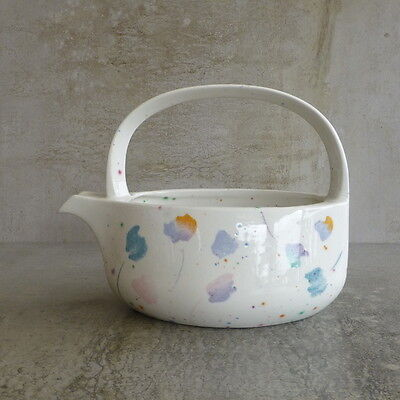 Retro Midwinter Pottery Jug Style Made in England Pastel Flowers holds 400mls