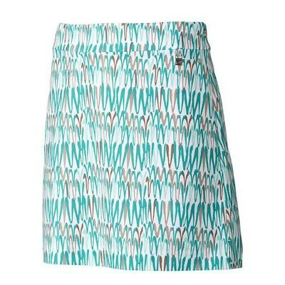 Cutter & Buck Ladies Gabriela Printed Skort CB DryTec™ White with Green Print