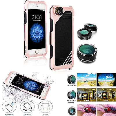 Aluminum Shockproof Dustproof Metal Case Cover Camera Lens for iPhone X 8 7 6 XR