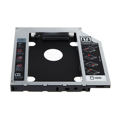 SATA 2nd HDD SSD Hard Drive Caddy for 12.7mm CD/DVD-ROM Optical Bay Laptop MO US