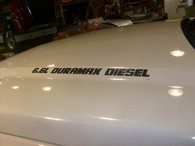 Duramax Diesel Decals Lot of 4