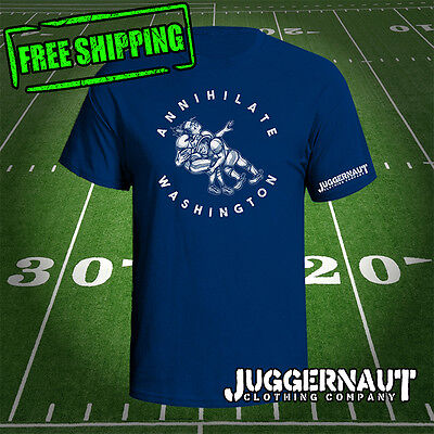 Annihilate Washington dallas cowboys novelty shirt redskins nfl graphic tee
