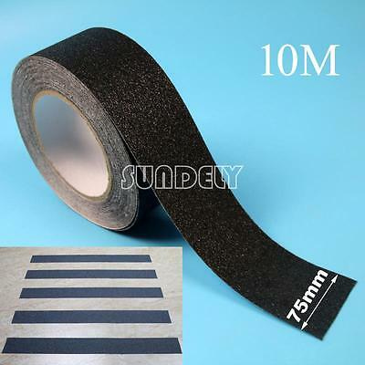 "Anti slip tape 3"" roll Black grit flooring adhesive Safety grip safe (non skid)"