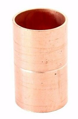 "1"" Coupling Rolled Stop C x C Sweat Ends (Bag of 25) - COPPER PIPE FITTING"