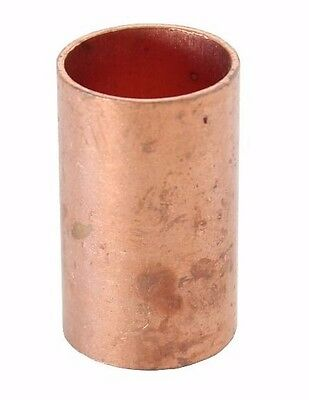 "1"" Coupling No Stop C x C Sweat Ends (Bag of 25) - COPPER PIPE FITTING"