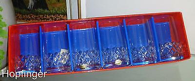 Vintage Set (5) Bohemia Crystal Bristol Large Tumblers 250Ml