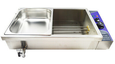 Bain-Marie Food Warmer 110V 2 Half Sized Pan Steam Table Restaurant Warmer