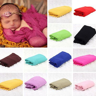 Newborn Baby Wrap Cloth Backdrop Blanket Photo Photography Prop Soft