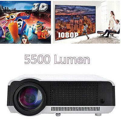 1080P Full HD LCD LED 86 3D Projector Multimeida Home Theater Cinema HDMI VGA PC