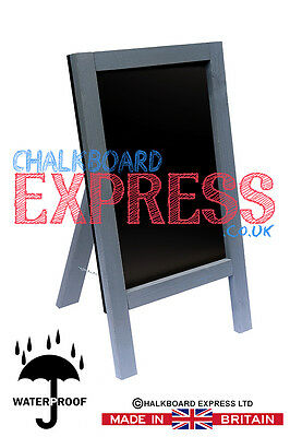 Waterproofed Chalkboard Menu Board Pavement Display Sign Silver 800mm x 410mm