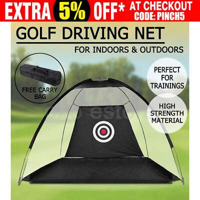 Golf Training Driving Net Tent Practice Chipping Soccer Cricket Target Portable