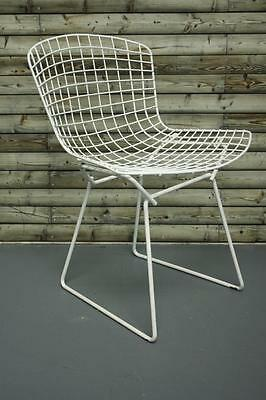 Vintage White Powder Coated Harry Bertoia Side Chair Midcentury #1720