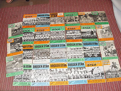 1960's Soccer Star Magazine Collection - 27 different - Super Condition !!
