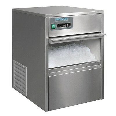 Under Counter Ice Cube Maker Stainless Steel 20kg/24hr 590(H) x 380(W) x 477(D)m