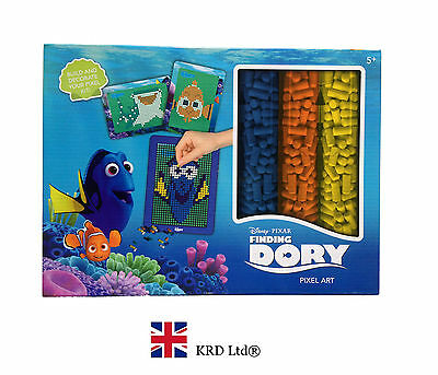 FINDING DORY Kids PIXEL ART SET Make Your Own Craft Activity Christmas Gift Toy