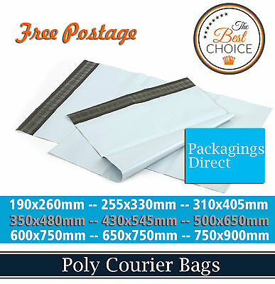 Courier Bag - 350x480mm - 430x545mm - 500x650mm - Poly Mailer Mailing Satchel